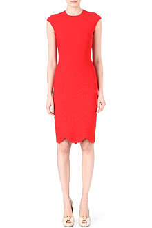 ALEXANDER MCQUEEN Engineered stretch-knit dress