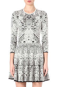 ALEXANDER MCQUEEN Lace jacquard dress