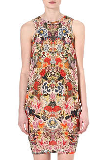 ALEXANDER MCQUEEN Floral boxy dress