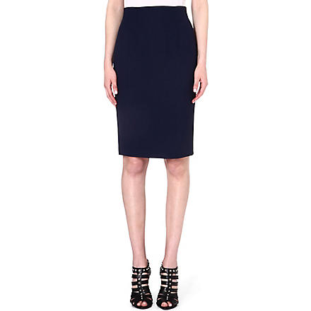 ALEXANDER MCQUEEN Jersey pencil skirt (Navy