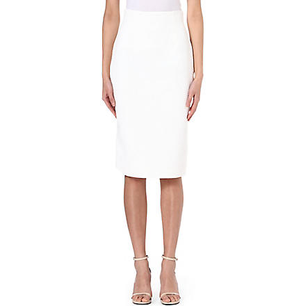 ALEXANDER MCQUEEN Brocade pencil skirt (White