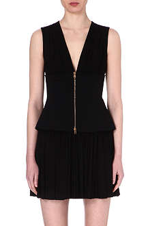 ALEXANDER MCQUEEN Zip-detailed jersey dress
