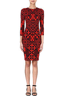 ALEXANDER MCQUEEN Printed bodycon jersey dress