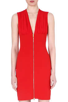 ALEXANDER MCQUEEN Zip-front jersey dress