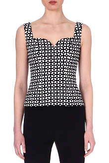 ALEXANDER MCQUEEN Printed sleeveless top