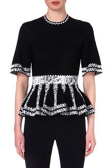 ALEXANDER MCQUEEN Python-detailed knitted top