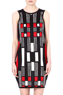 ALEXANDER MCQUEEN Geometric silk dress