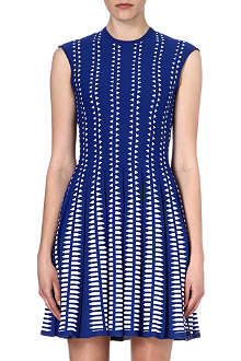ALEXANDER MCQUEEN Geometric-print knit dress