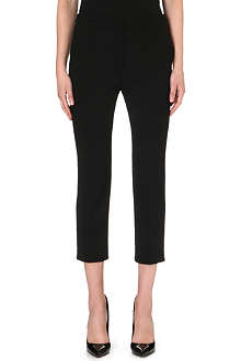 ALEXANDER MCQUEEN Cropped slim-fit wool trousers