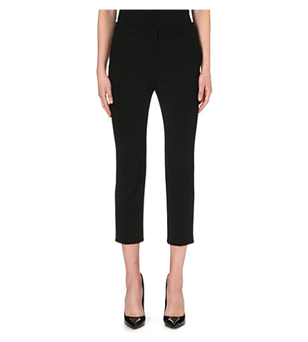 ALEXANDER MCQUEEN Cropped slim-fit wool trousers (Black
