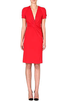 ALEXANDER MCQUEEN Ruched jersey dress