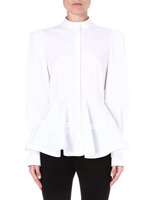 ALEXANDER MCQUEEN Peplum band-collar shirt
