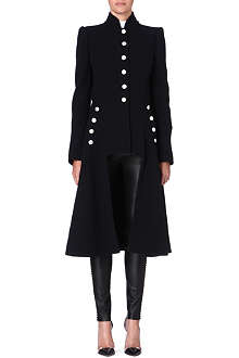 ALEXANDER MCQUEEN Long military wool coat