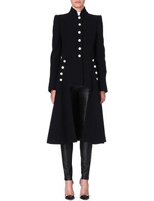 ALEXANDER MCQUEEN Long military wool coat