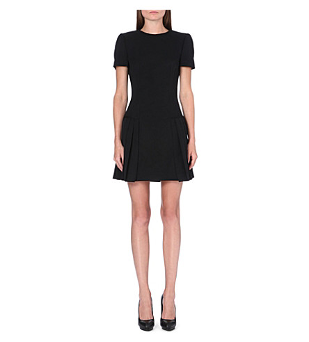 ALEXANDER MCQUEEN Pleated wool dress (Black