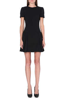 ALEXANDER MCQUEEN Pleated wool dress