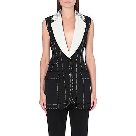ALEXANDER MCQUEEN Stitch-detail waistcoat (Black