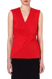 ALEXANDER MCQUEEN Twist-detailed jersey top