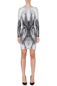 ALEXANDER MCQUEEN Fox-print dress