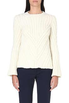 ALEXANDER MCQUEEN Wool and cashmere-blend jumper