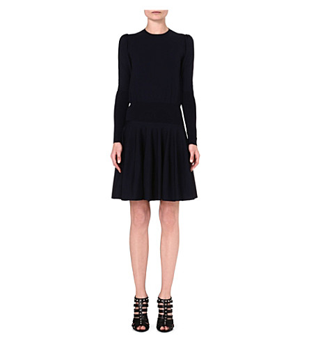 ALEXANDER MCQUEEN Wool dress (Navy