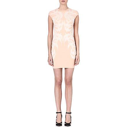 ALEXANDER MCQUEEN Swallow-print dress (Pink