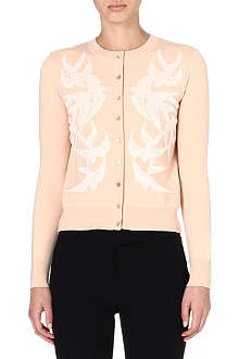 ALEXANDER MCQUEEN Embroidered swallow cardigan