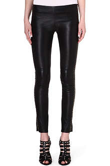 ALEXANDER MCQUEEN Slim leather leggings