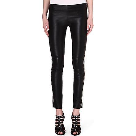 ALEXANDER MCQUEEN Slim leather leggings (Black