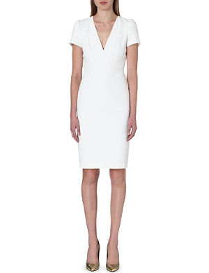 ALEXANDER MCQUEEN V-neck crepe dress