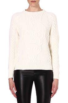 ALEXANDER MCQUEEN Skull-motif wool and cashmere-blend jumper
