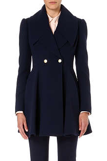 ALEXANDER MCQUEEN Pleated skirt lapel coat