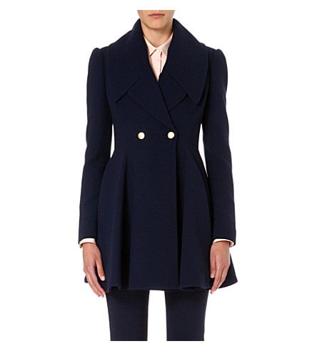 mcqueen pleated skirt lapel coat selfridges