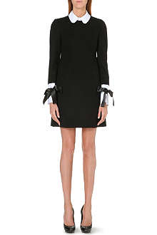 ALEXANDER MCQUEEN Ribbon-detail empire-line mini dress