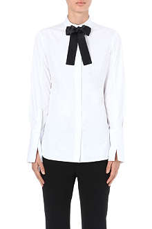 ALEXANDER MCQUEEN Bow-tie cotton shirt
