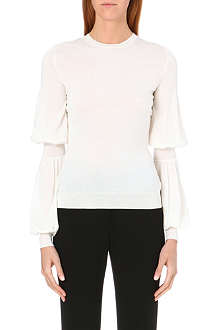 ALEXANDER MCQUEEN Balloon-sleeve wool jumper