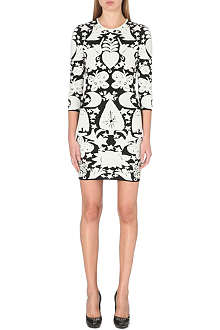 ALEXANDER MCQUEEN Pagan jacquard-knit dress