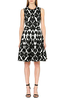 ALEXANDER MCQUEEN Leaf jacquard dress
