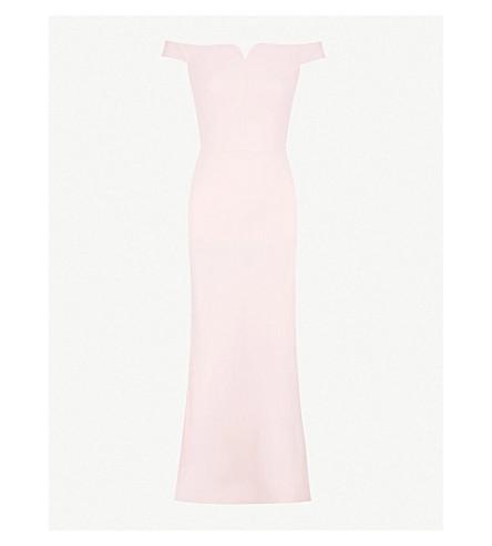 ALEXANDER MCQUEEN Sweetheart crepe column gown (Rose