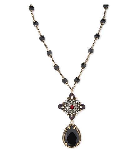ALEXANDER MCQUEEN Multi gem embellished necklace (Multi
