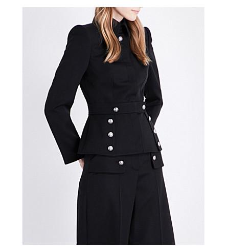 ALEXANDER MCQUEEN Button-detailed wool jacket (Black