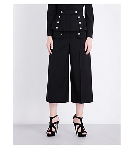 ALEXANDER MCQUEEN Button-detailed wool culottes (Black