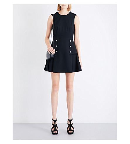 ALEXANDER MCQUEEN Military peplum wool mini dress (Black