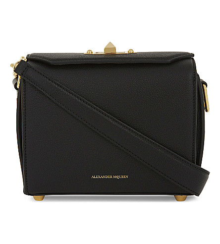 ALEXANDER MCQUEEN Grained leather box shoulder bag (Black