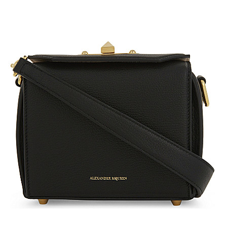 ALEXANDER MCQUEEN Box Bag leather cross-body bag (Black