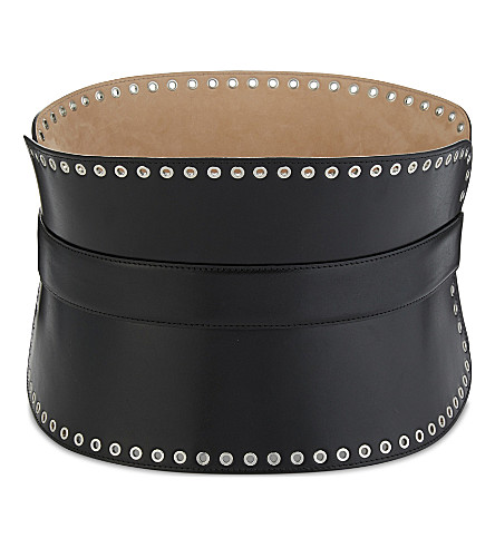 ALEXANDER MCQUEEN Corset leather belt (Black