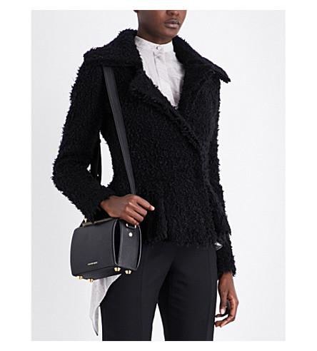 ALEXANDER MCQUEEN Peplum-hem wool-blend jacket (Black