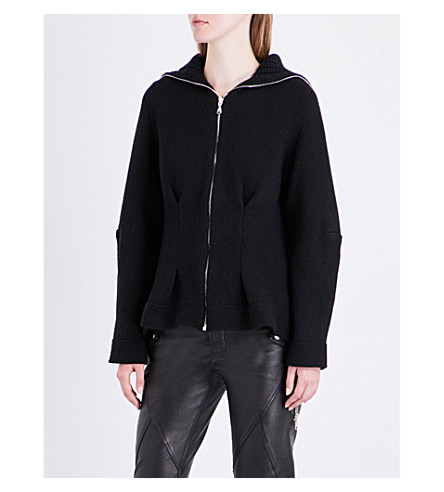 ALEXANDER MCQUEEN Zip-up cashmere cardigan (Black