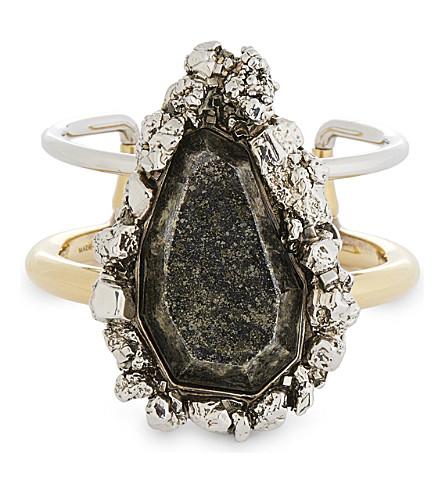 ALEXANDER MCQUEEN Large stone bracelet (0446+0448+pirite+blk