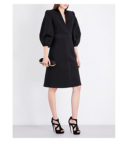 ALEXANDER MCQUEEN Puff-sleeve wool and silk-blend coat (Black